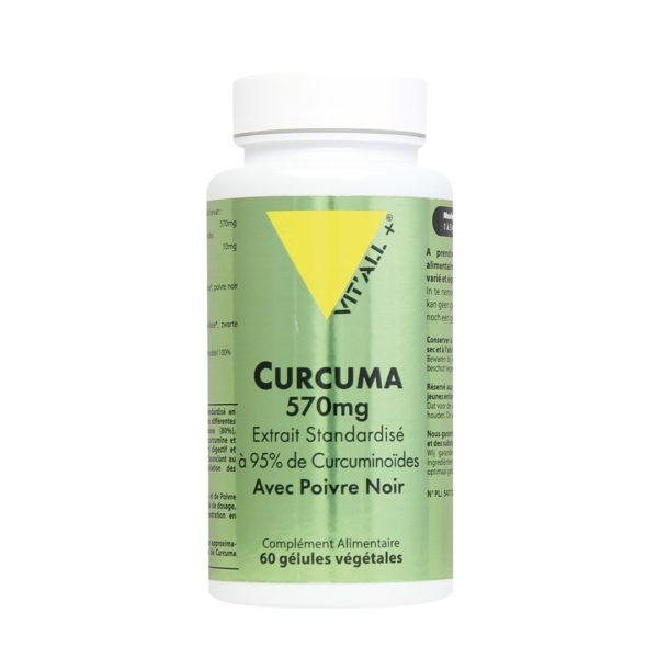 Curcuma 570mg avec Poivre Noir VIT'ALL+