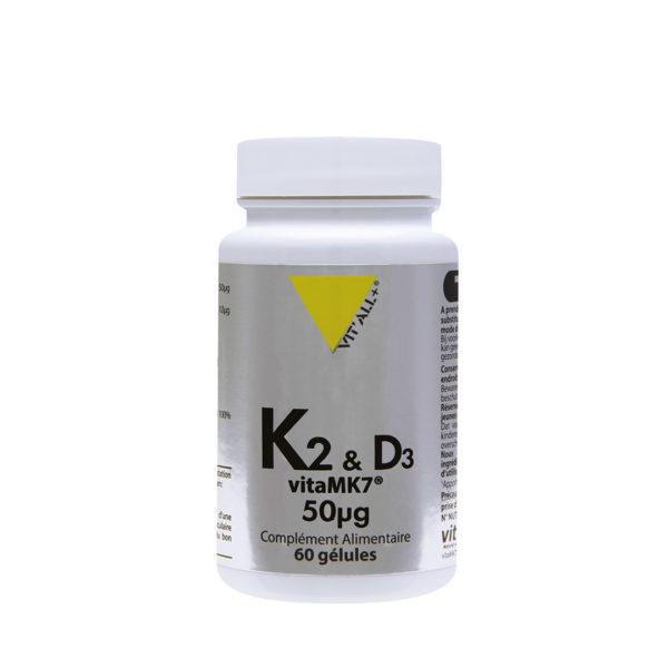 Vitamines K2 et D3 VIT'ALL+