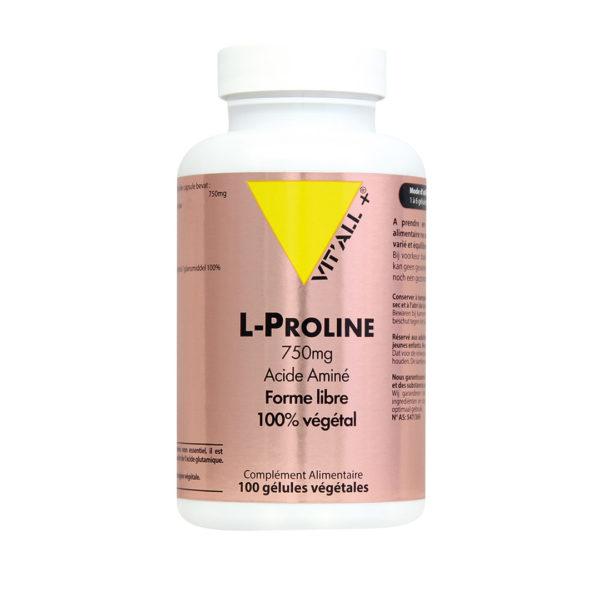 L-Proline 750mg VIT'ALL+